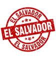 el salvador red round grunge stamp vector image vector image