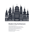 flyer architecture megapolis vector image vector image