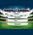 football championship group c soccer world vector image vector image