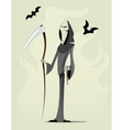 Grim reaper cartoon character vector image
