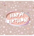 Happy birthday card seamless pattern with stars vector image vector image