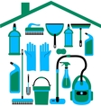 house set in blue colors vector image vector image