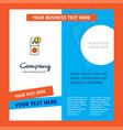 internet error company brochure template busienss vector image vector image
