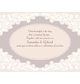 Invitation wedding card with beautiful lace vector image vector image