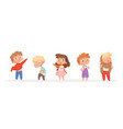 kids changing clothes children dressing pants and vector image vector image