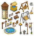 large set constructor items for locations vector image vector image