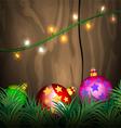 Lighting Christmas scene vector image vector image
