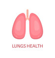 lungs in flat style isolated on white background vector image