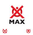 m letter based max symbol set vector image