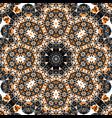mandala over gray background seamless ornate vector image