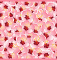 momo peach flower blossom seamless background vector image