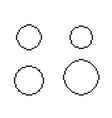 pixel circles set vector image