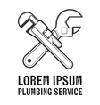 Plumbing service insignia vector image vector image