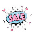 pop art pink blue sale cool sticker advertising vector image vector image