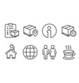 restroom parcel checklist and parcel tracking vector image vector image