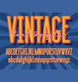 retro font and graphic style vector image vector image