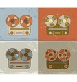 Retro reel to reel tape recorder icon vector image