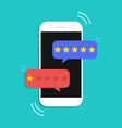 review from customer online star rate feedback vector image vector image
