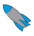 rocket start up launch innovation vector image vector image
