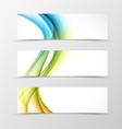 set header banner swirl design vector image vector image