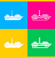 ship sign four styles of icon on vector image vector image