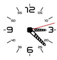 simple black and white twentieth edition clock vector image vector image