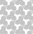 Slim gray small striped spirals three turn vector image vector image