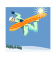 Snowboarding on Air vector image vector image