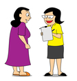 Social worker conducting survey vector image vector image