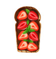 strawberry chocolate bread composition vector image