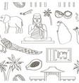 symbols of sri lanka icons pattern vector image vector image