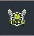 tennis logo sport badge vector image vector image