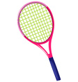 Tennis racket with pink frame vector image vector image
