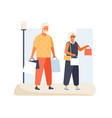 trendy elderly couple carry packages vector image vector image