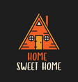 triangle shaped house on t shirt design vector image