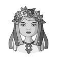 ukrainianhuman race single icon in monochrome vector image vector image