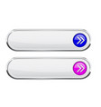 white oval buttons with colored blue and purple vector image vector image