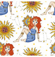 zodiac girl sign vector image vector image