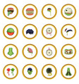 zombie parts icons circle vector image vector image