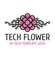 Tech flower template logo vector image