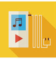 Flat Music Player with long Shadow vector image