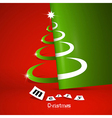 Abstract Merry Christmas theme vector image vector image