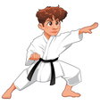 Baby Karate Player vector image vector image