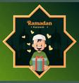 banner design ramadan kareem vector image