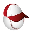 baseball cap icon design vector image vector image
