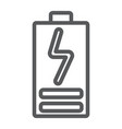 battery load line icon electric and power energy vector image