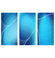 blue vertical banners set vector image