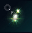 bright star on a dark background vector image