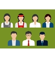 Business and sales profession flat avatars vector image vector image