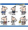 businessmen cartoon characters set vector image